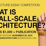 "Essay Competition ""What is Small-Scale Architecture?"""