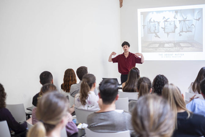 YACademy students during the lecture of Edoardo Tresoldi; credits YAC srl