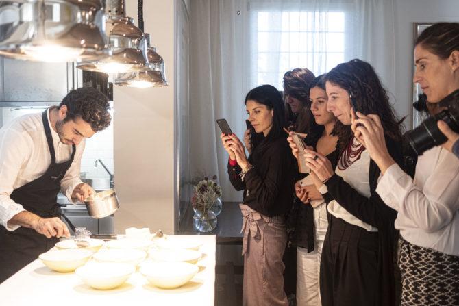 YACademy students during their visit at Osteria Francescana - chef Massimo Bottura; credits YAC srl