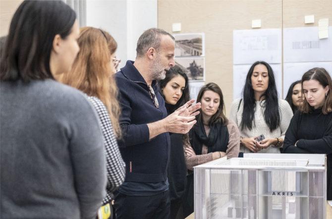 YACademy students at David Chipperfield Architects, Milan; credits YAC srlv