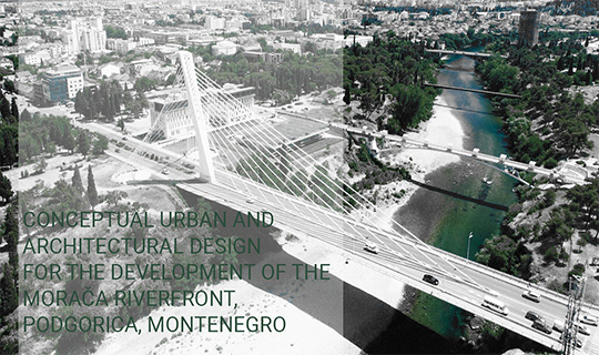urban and architectural design riverfront podgorica montenegro
