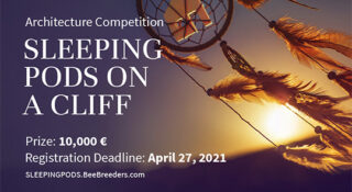 sleeping pods on a clif competition